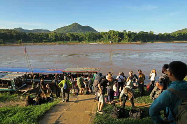 mekong luang prabang ausstieg slow boat