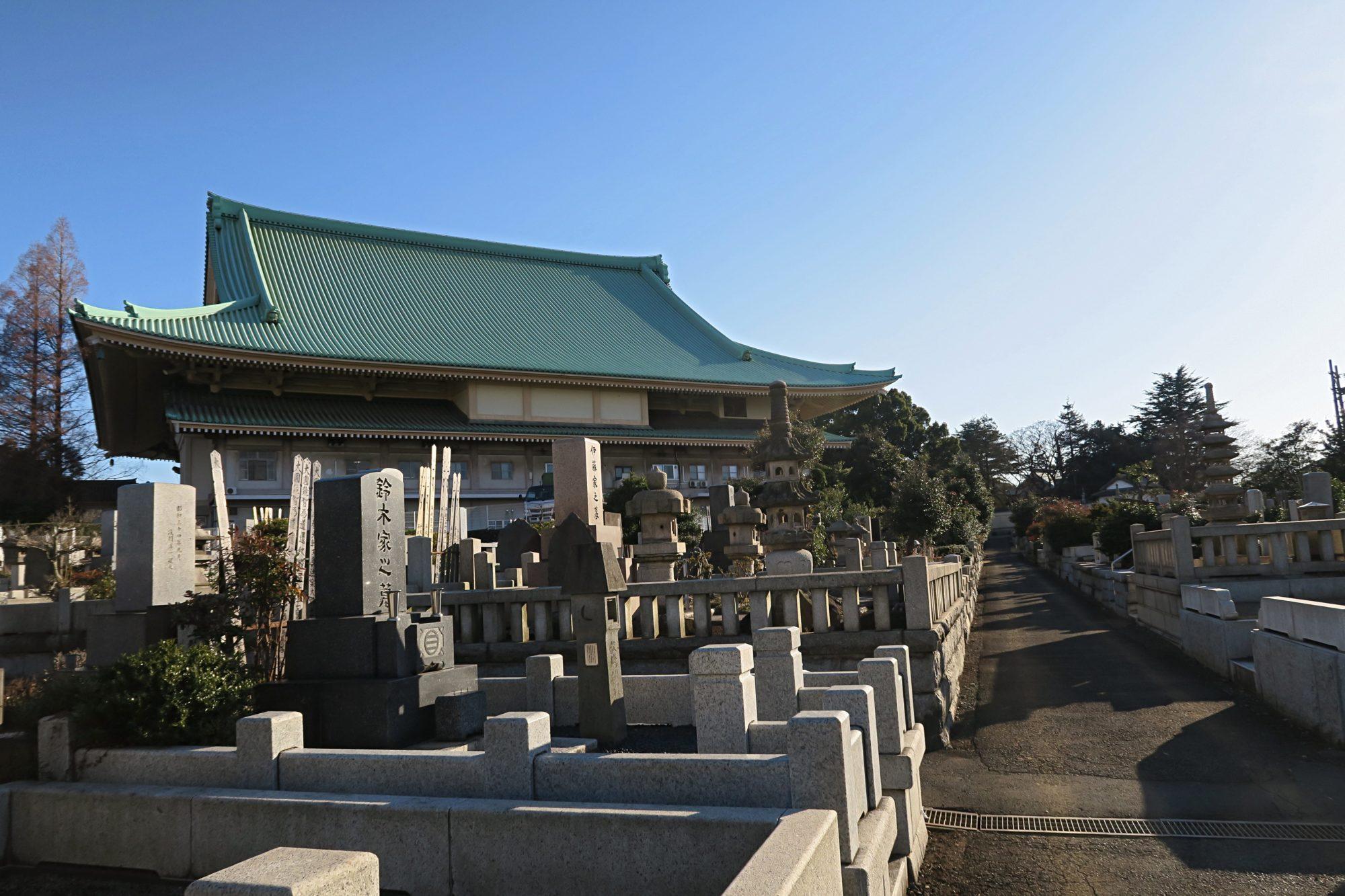 Zen Tempel Soji Ji - Friedhof